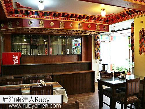 餐廳也充滿西藏風。