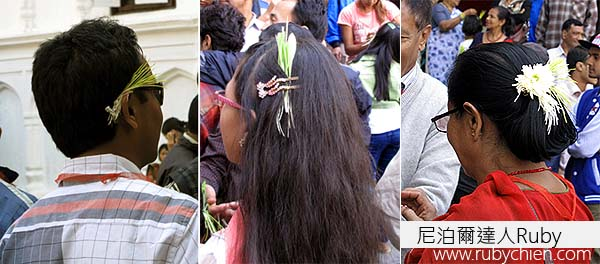 人們將Jamara別在髮際。