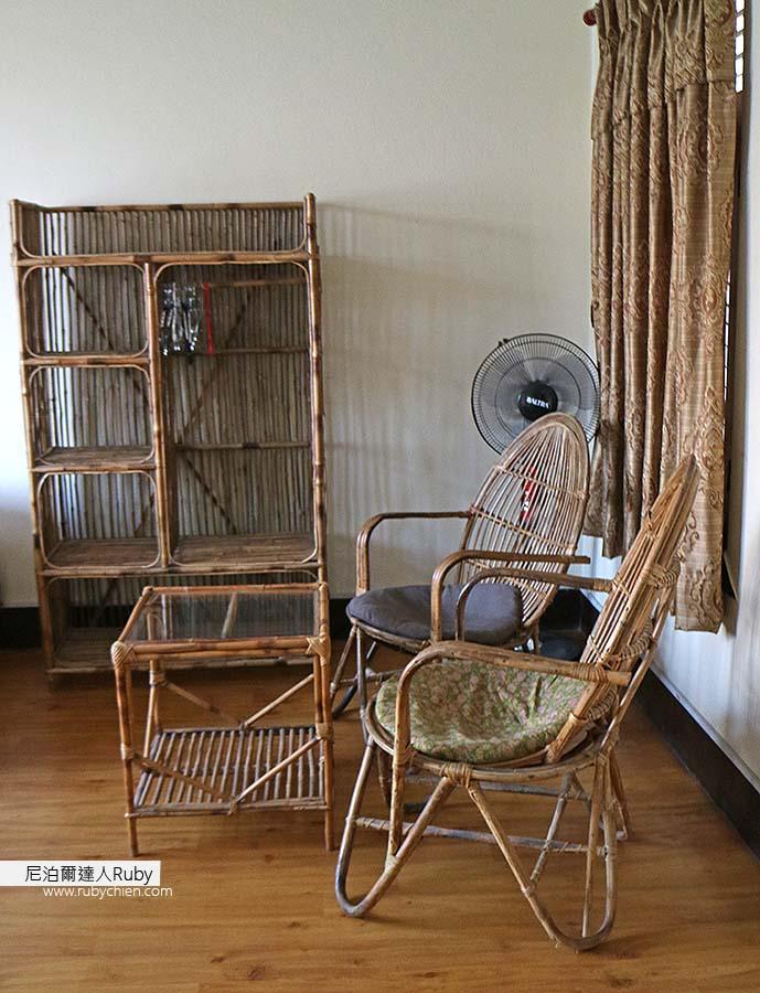 臥室的茶几與座椅。