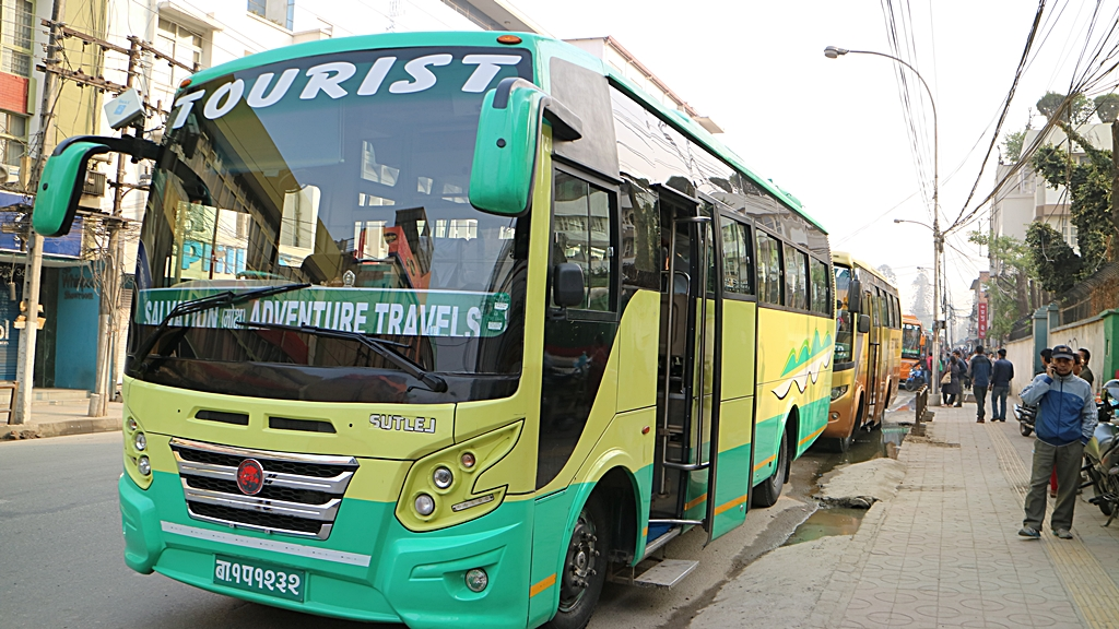加德滿都的Tourist Bus乘車處,其實就是Kantipath路邊